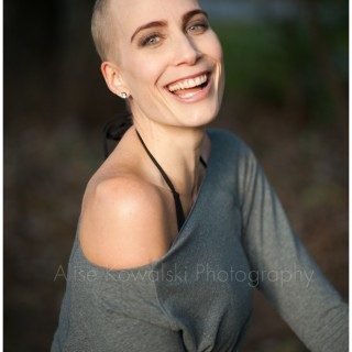image: picture of a beautiful, strong woman who battled lymphoma and is now in remission, Hoddy is... project by Alise Kowalski photography, Chicagoland photographer
