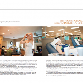 image: feature pictorial editorial in Click Magazine documenting my friend Hoddy's battle with lymphoma by Alise Kowalski Photography