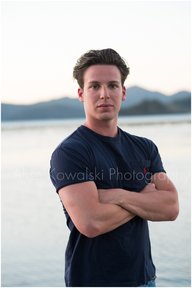 imageheadshot on the beach in Hamilton Island, Australia by Alise Kowalski, Chicago photographer.